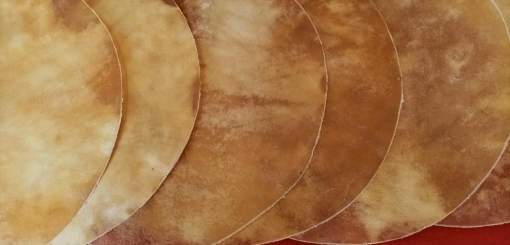 Détail peaux diamètre 80 cm ≈ 2 à 2,5 mm