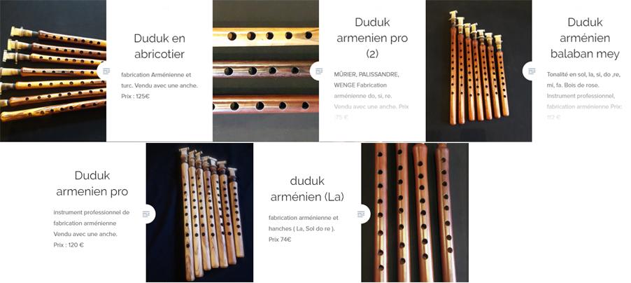 De nouveaux duduks sont disponibles duduks en abricotier, duduks arménien professionnel, en différentes tonalités sol, la, si, do, re.